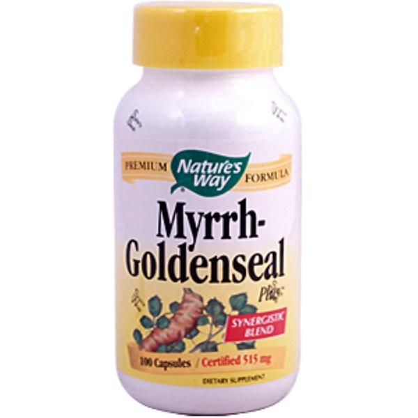 Nature's Way, Myrrh-Goldenseal Plus, 515 mg, 100 Capsules (Discontinued Item)