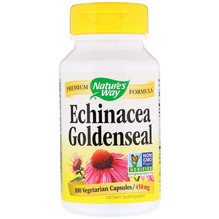 Nature's Way, Echinacea Goldenseal, 450 mg, 100 Vegetarian Capsules