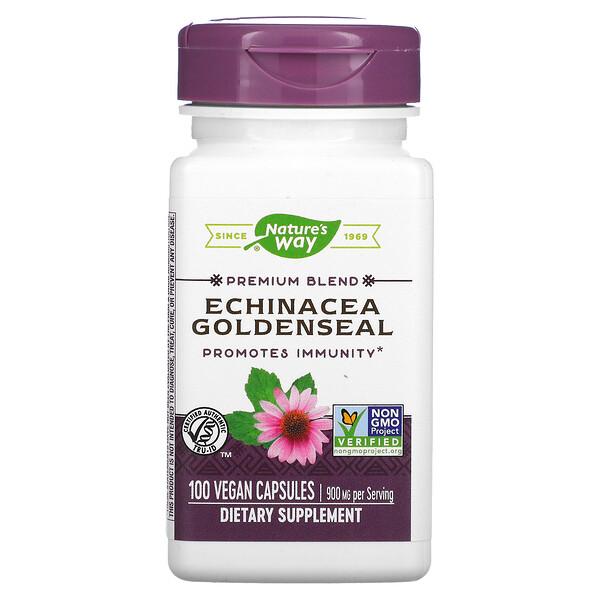 Echinacea Goldenseal, 450 mg, 100 Vegan Capsules