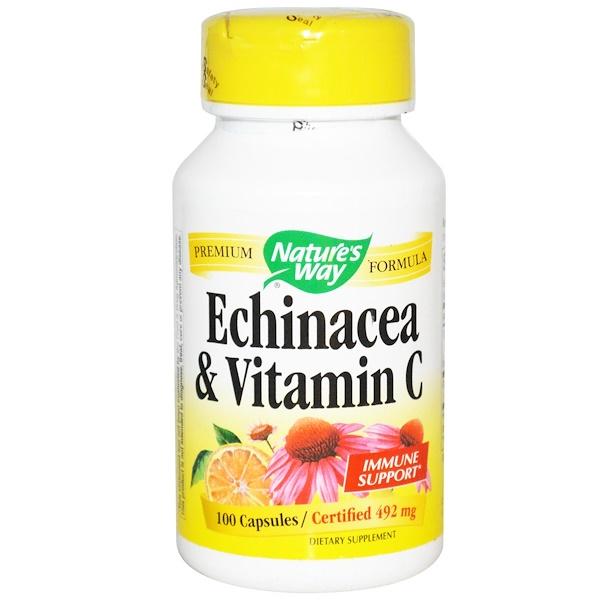 Nature's Way, Эхинацея и витамин C, 492 мг, 100 капсул