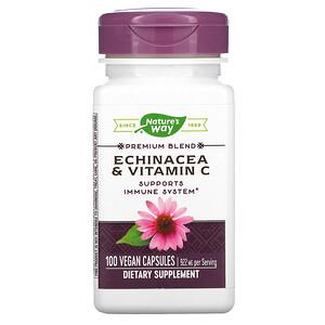 Натурес Вэй, Echinacea & Vitamin C, 922 mg, 100 Vegan Capsules отзывы покупателей