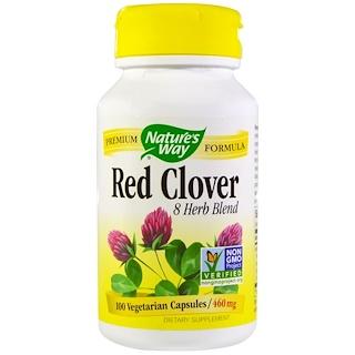 Nature's Way, Красный клевер, 460 мг, 100 вегетарианских капсул