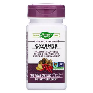Nature's Way, Cayenne Extra Hot, 100 Vegan Capsules
