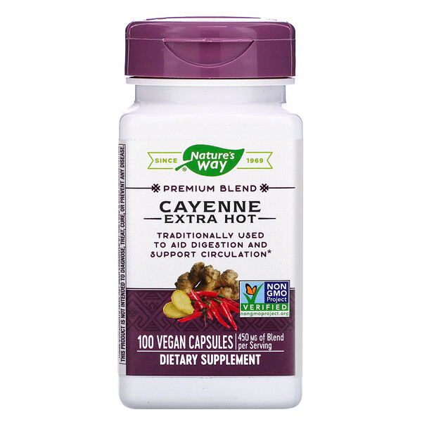 Nature's Way, Cayenne Extra Hot, 100 Vegan Capsules