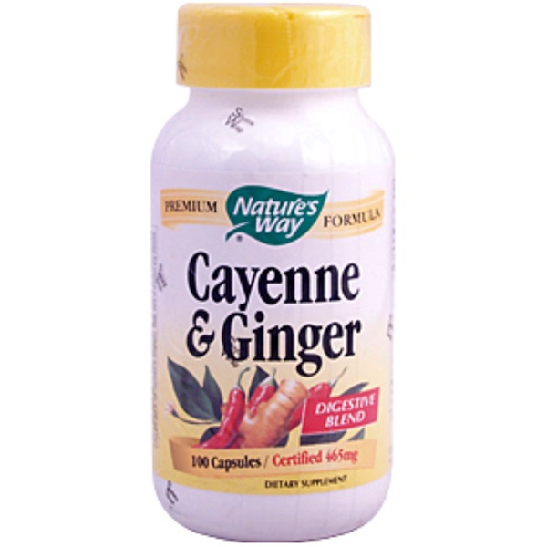 Nature's Way, Cayenne & Ginger, 465 mg, 100 Capsules (Discontinued Item)