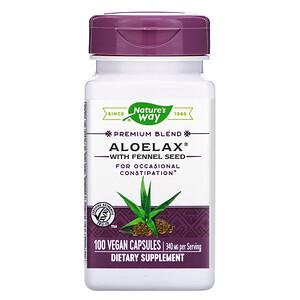 Натурес Вэй, Aloelax with Fennel Seed, 340 mg, 100 Vegan Capsules отзывы покупателей
