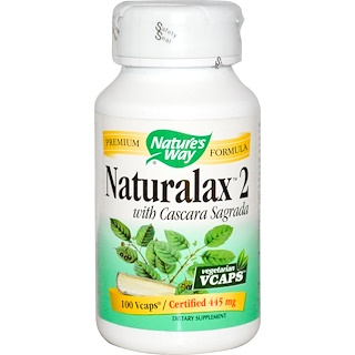 Nature's Way, Naturalax 2, with Cascara Sagrada, 445 mg, 100 Veggie Caps