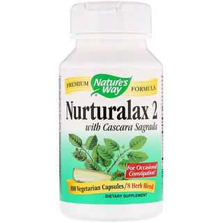 Nature's Way, Nurturalax 2, with Cascara Sagrada, 100 Vegetarian Capsules