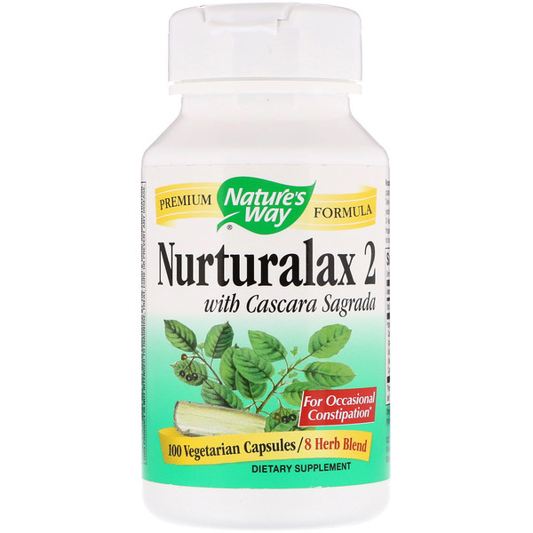 Nature's Way, Nurturalax 2, with Cascara Sagrada, 100 Vegetarian Capsules (Discontinued Item)
