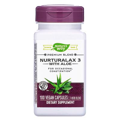 Nurturalax 3 with Aloe, 100 Vegan Capsules gtf chromium 200 mcg 100 vegan capsules