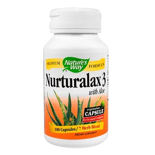 Nature's Way, Nurturalax 3, with Aloe, 100 Capsules