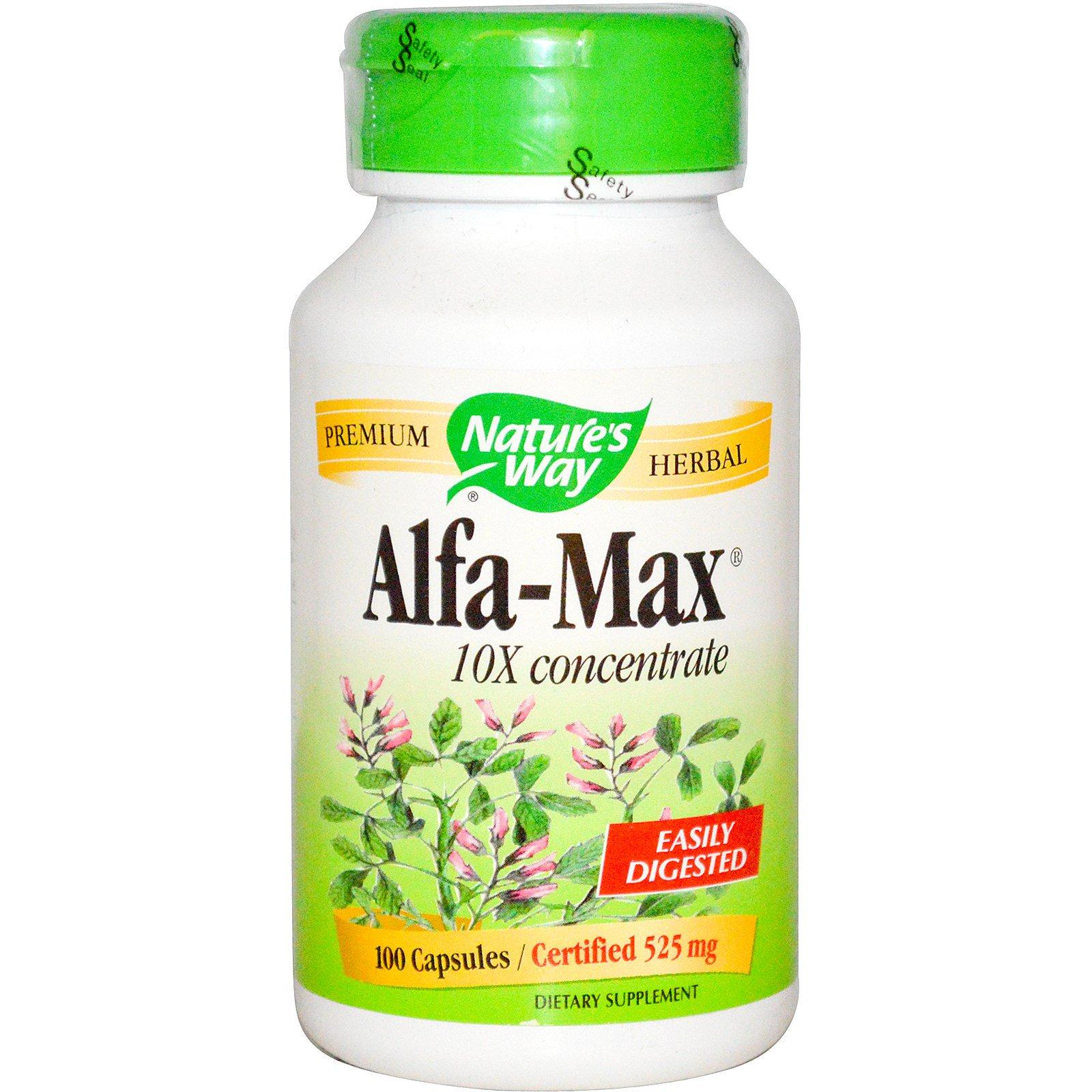 Nature's Way, Alfa-Max,  концентрация 10X, 100 капсул