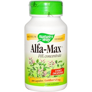 Nature's Way, Alfa-Max, 10X Concentrate, 100 Capsules