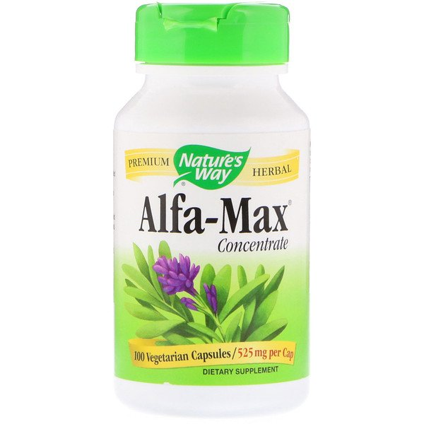 Nature's Way, Alfa-Max, Concentrate, 525 mg, 100 Vegetarian Capsules