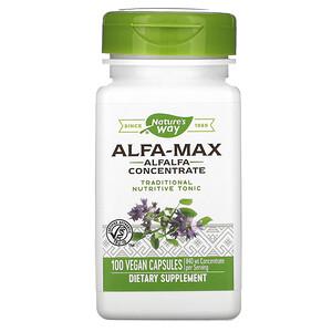 Натурес Вэй, Alfa-Max, Alfalfa Concentrate, 840 mg, 100 Vegan Capsules отзывы покупателей