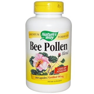 Nature's Way, Bee Pollen Blend, 580 mg, 180 Capsules