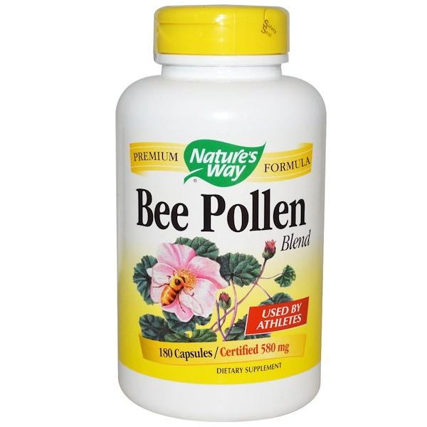 Nature's Way, Bee Pollen Blend, 580 mg, 180 Capsules (Discontinued Item)