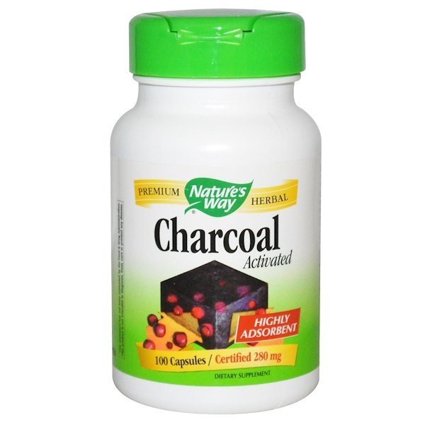 Nature's Way, Charcoal, Activated, 280 mg, 100 Capsules