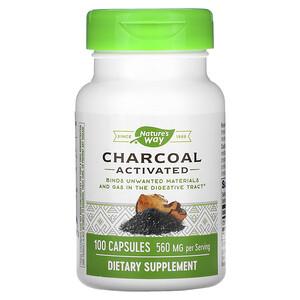 Натурес Вэй, Charcoal, Activated, 560 mg, 100 Capsules отзывы покупателей