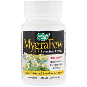 Натурес Вэй, MygraFew, Feverfew Extract, 90 Tablets отзывы покупателей