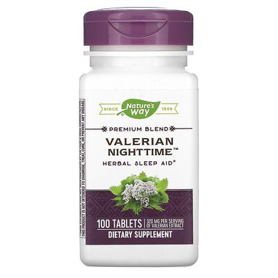 Nature's Way валериана для сна, 100таблеток  - купить со скидкой