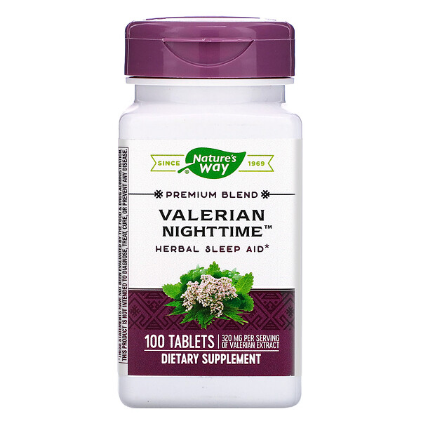 Nature's Way, Valerian Nighttime, 100 Tablets