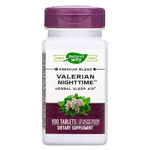 Valerian Nighttime, 100 Tablets