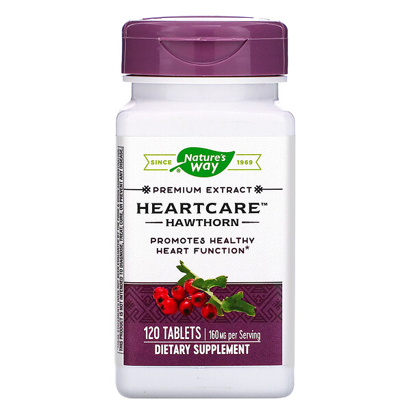 Nature's Way, HeartCare, Hawthorn, 160 mg , 120 Tablets