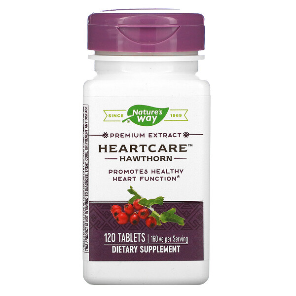 HeartCare, Hawthorn, 160 mg , 120 Tablets