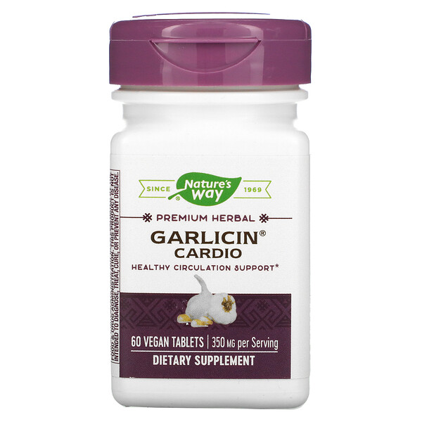 Garlicin Cardio, 350 mg, 60 Vegan Tablets