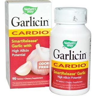 Nature's Way, 갈리신(Garlicin), 냄새없는 갈릭, 심혈관계 건강, 90 장코팅 타블릿