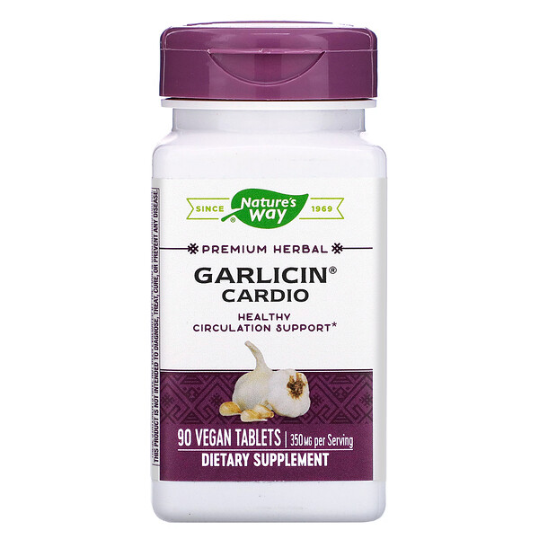 Garlicin Cardio, 90 Vegan Tablets