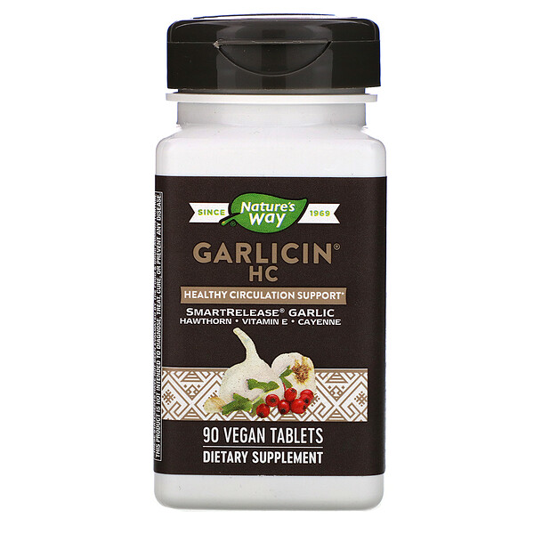 Garlicin HC, 90 Vegan Tablets