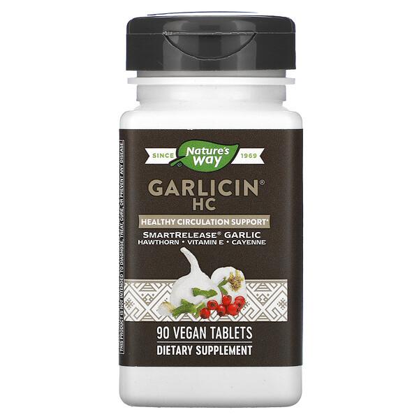 Nature's Way, Garlicin HC, 90 Vegan Tablets (Discontinued Item)