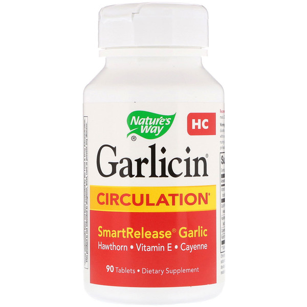 Nature's Way, Garlicin HC, Circulation, Odor Free, 90 Tablets