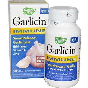 Натурес Вэй, Garlicin CF, Immune, Odor Free, 90 Tablets отзывы