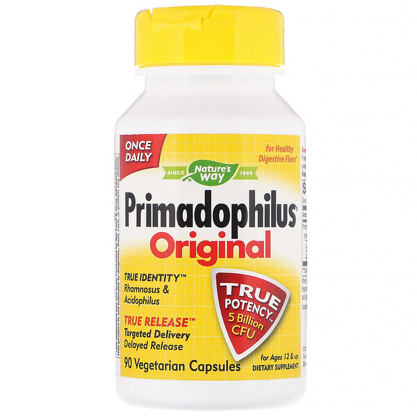 Primadophilus, Original, Ages 12 & Up, 5 Billion CFU, 90 Vegetarian Capsules
