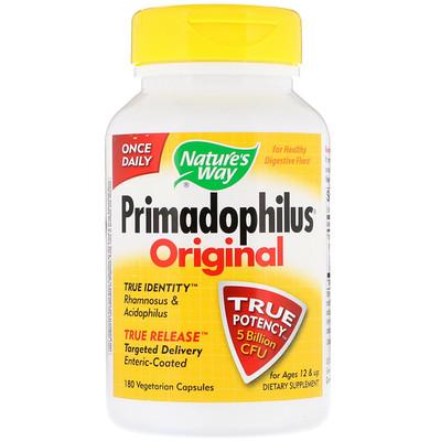 Купить Primadophilus, классический, для детей от 12лет, 5млрд КОЕ, 180вегетарианских капсул