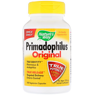 Nature's Way, Primadophilus, Original, Ages 12 & Up, 5 Billion CFU, 180 Vegetarian Capsules