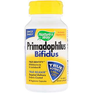 Nature's Way, Primadophilus, Bifidus, For Adults, 5 Billion CFU, 90 Vegetable Capsules