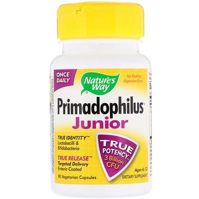 Купить Primadophilus, для детей 6-12 лет, 90 вегетарианских капсул