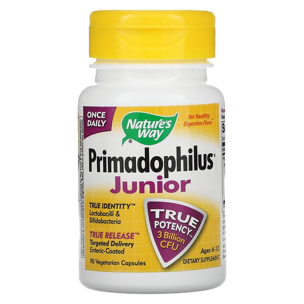 Nature's Way, Primadophilus, Junior, Ages 6-12, 90 Vegetarian Capsules