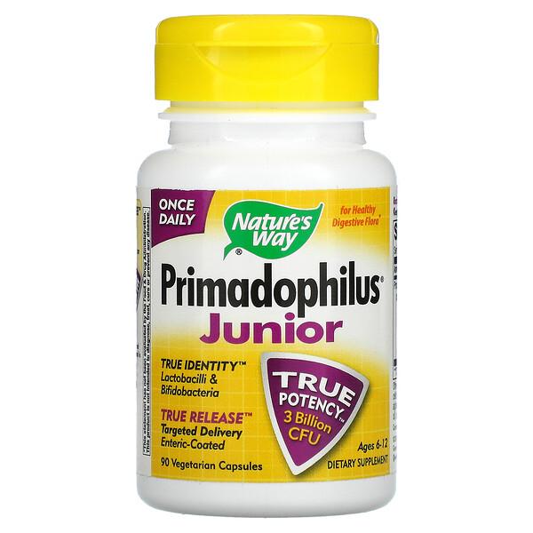 Primadophilus, для дітей 6–12років, 90вегетаріанських капсул