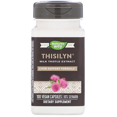 Купить Nature's Way Thisilyn, формула для поддержки печени, 100 капсул