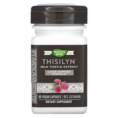Natures Way Thisilyn, экстракт расторопши, 60веганских капсул