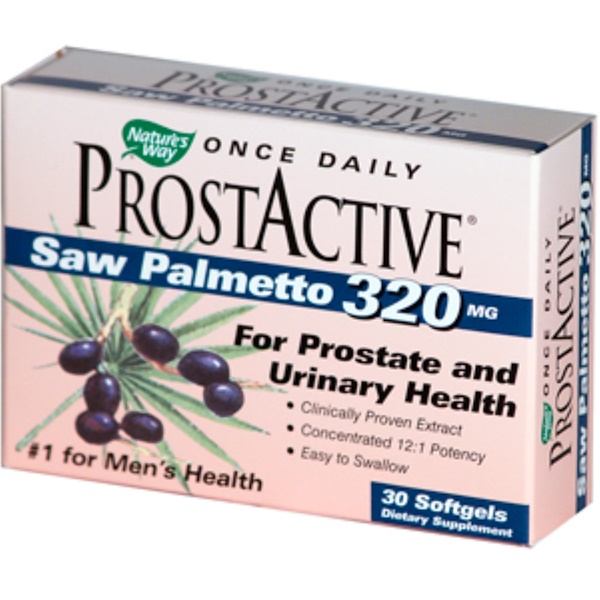 Nature's Way, ProstActive, Saw Palmetto, 320 mg, 30 Softgels (Discontinued Item)