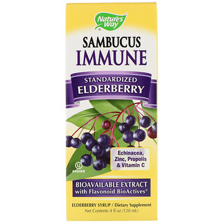 Nature's Way, Sambucus Immune, Elderberry, Standardized, 4 fl oz (120 ml)