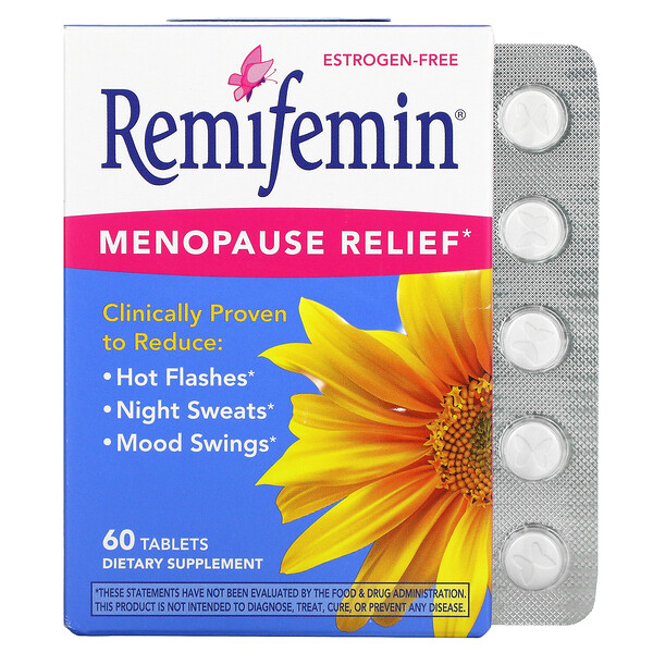 Remifemin, Menopause Relief, 60 Tablets