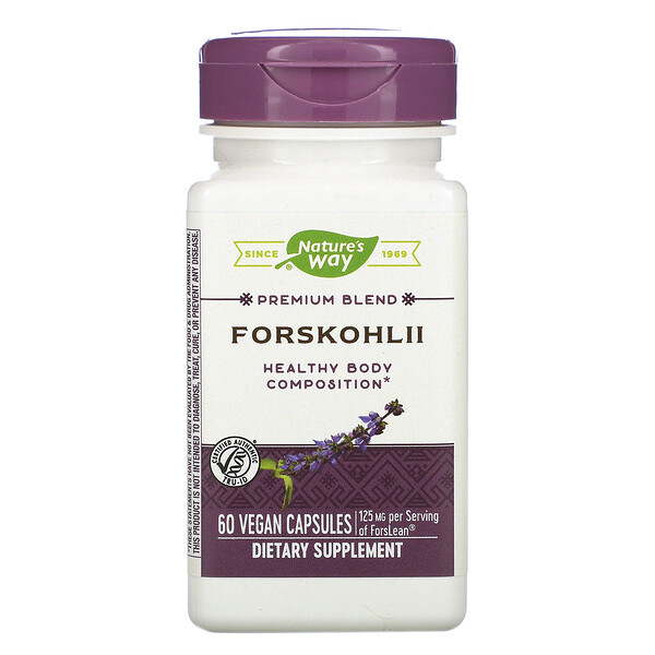 Nature's Way, Forskohlii, 125 mg, 60 Vegan Capsules