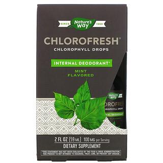 Nature's Way, Chlorofresh, Chlorophyll Drops, Mint, 2 fl oz (59 ml)